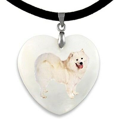 SAMOYED DOG ORNATE GOLD PENDANT NECKLACE