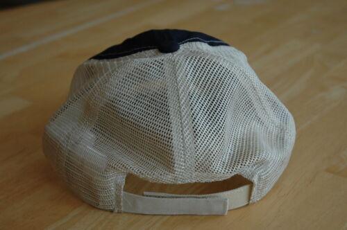 Cap Caterpillar CAT Navy Blue Front /& Cream Mesh Back Hat