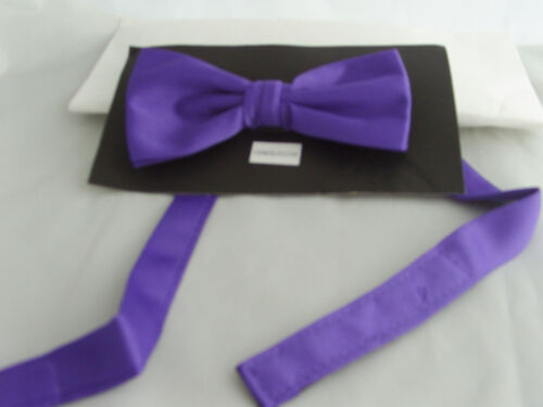 PURPLE Ready Pre-tied Polyester Bow tie/<With us/>The More U Buy/>/>The More U Save