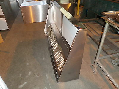 8 FT.CONCESSION  TYPE l COMMERCIAL KITCHEN EXHAUST HOOD W /  BLOWER & CURB ,