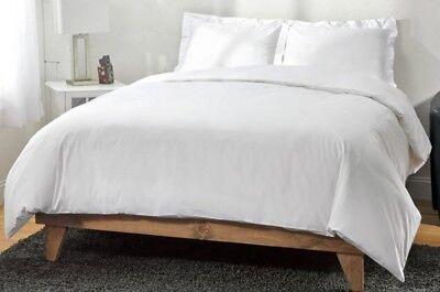 Bettwäsche 2 Stk Bettwäschegarnituren Baumwollreich Bettwäsche Set ~ Einzelbett 178cm X 239cm ~ Weiß Neu Strukturelle Behinderungen