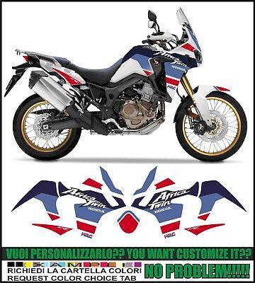 For decalcomanie Honda Africa Twin CRF1000L CRF1000 F CRF 1000L 2016-2018 3D tappo del serbatoio del gas Pad Pad Filler copertina Sticker Adesivo per serbatoiocarburante per moto Color : 1