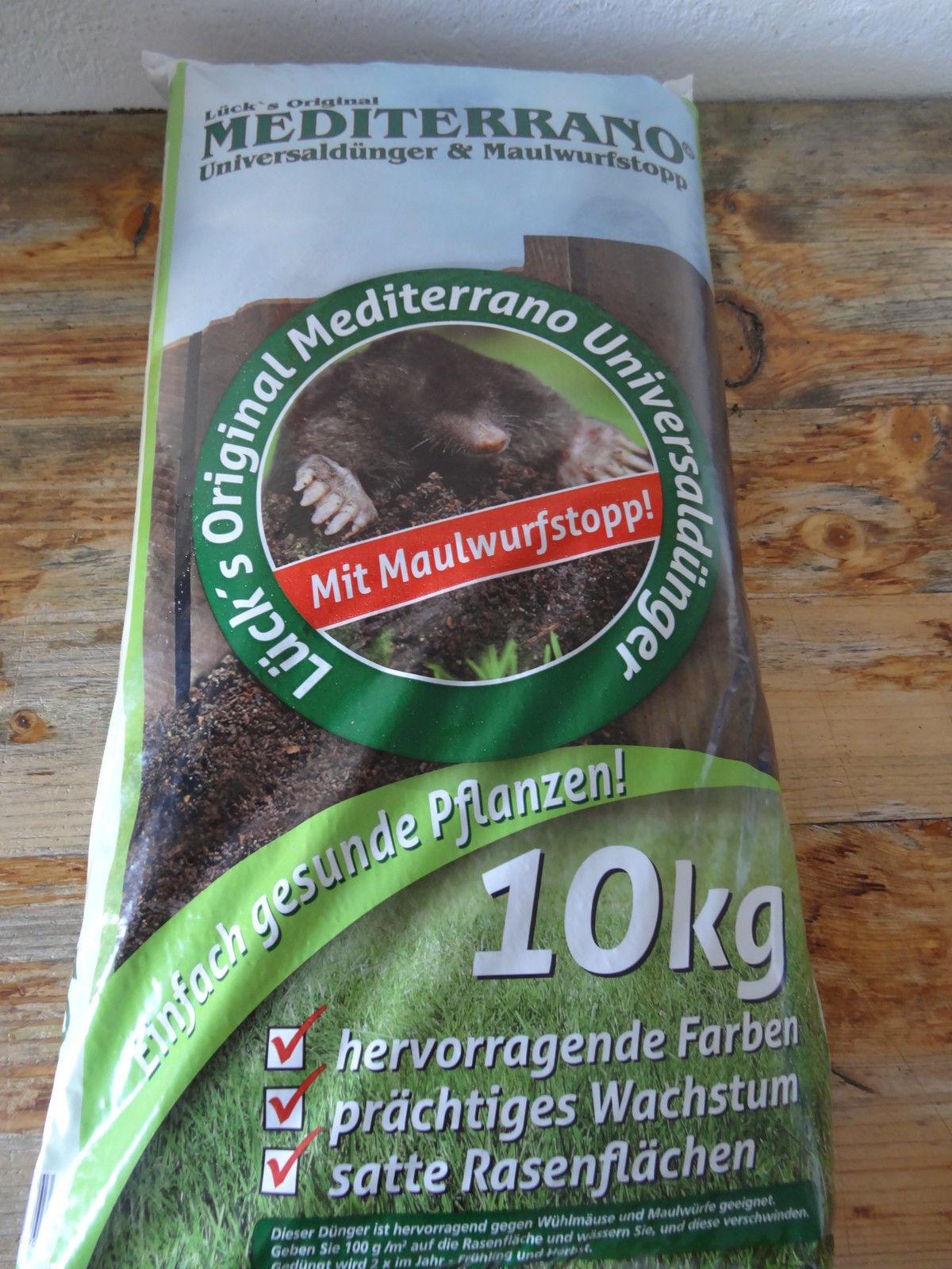 Rasendünger Universaldünger Dünger für Rasen Mediterrano 10Kg TOP  Profidünger