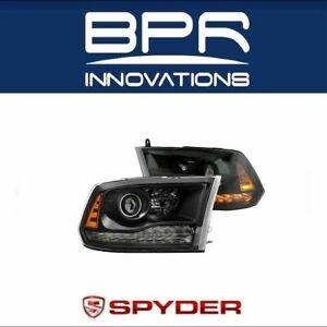 Spyder 9040238 for Dodge Ram 2013-2017 Halogen Models Projector Headlights