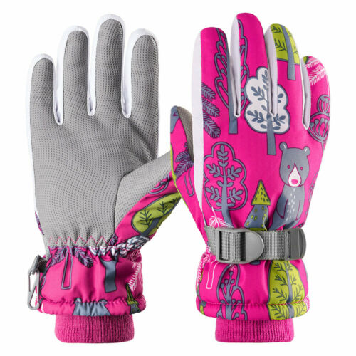 Kids Boys Girls Ski Gloves Winter Warm Snowboard Snow Gloves Riding Waterproof