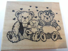 Psx Teddy Bear Family Mama Papa Baby Bear E-749 Wooden Rubber Stamp