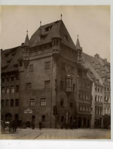 Allemagne-Nurnberg-Nassauerhaus-Vintage-albumen-print-Tirage-albumine-21x