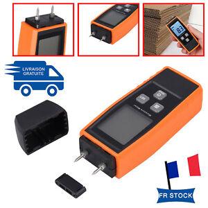 Humidimètre de bois 660 Humidité Compteur  Testeur Détecteur 2 Pin LCD Portable