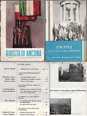 RIVISTA DI ANCONA E SUPPLEMENTO ALLA RIVISTA 1964 VENTENNALE DELLA LIBERAZIONE