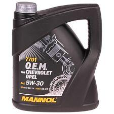 5W30 4L Mannol 7701 O.E.M. Motor Öl 5W-30 OPEL Chevrolet Benzin Diesel GM Dexos2