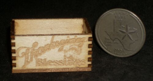 Thanksgiving Blessings Crate 1:12 Miniature Produce Farm Store Grocery Holiday