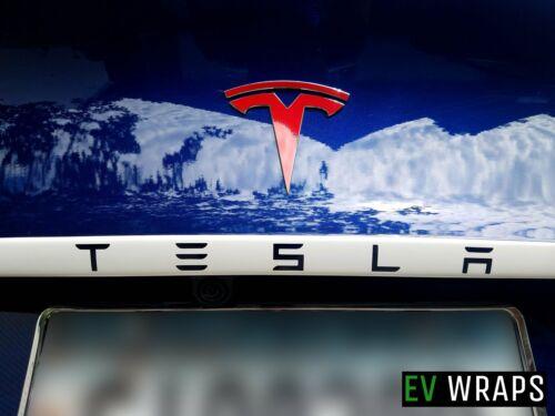 TESLA Model 3 Trunk Applique Wrap