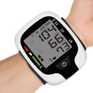 Digital Wrist Blood Pressure Monitor Wrist Sphygmomanometer Heart Rate Meter US