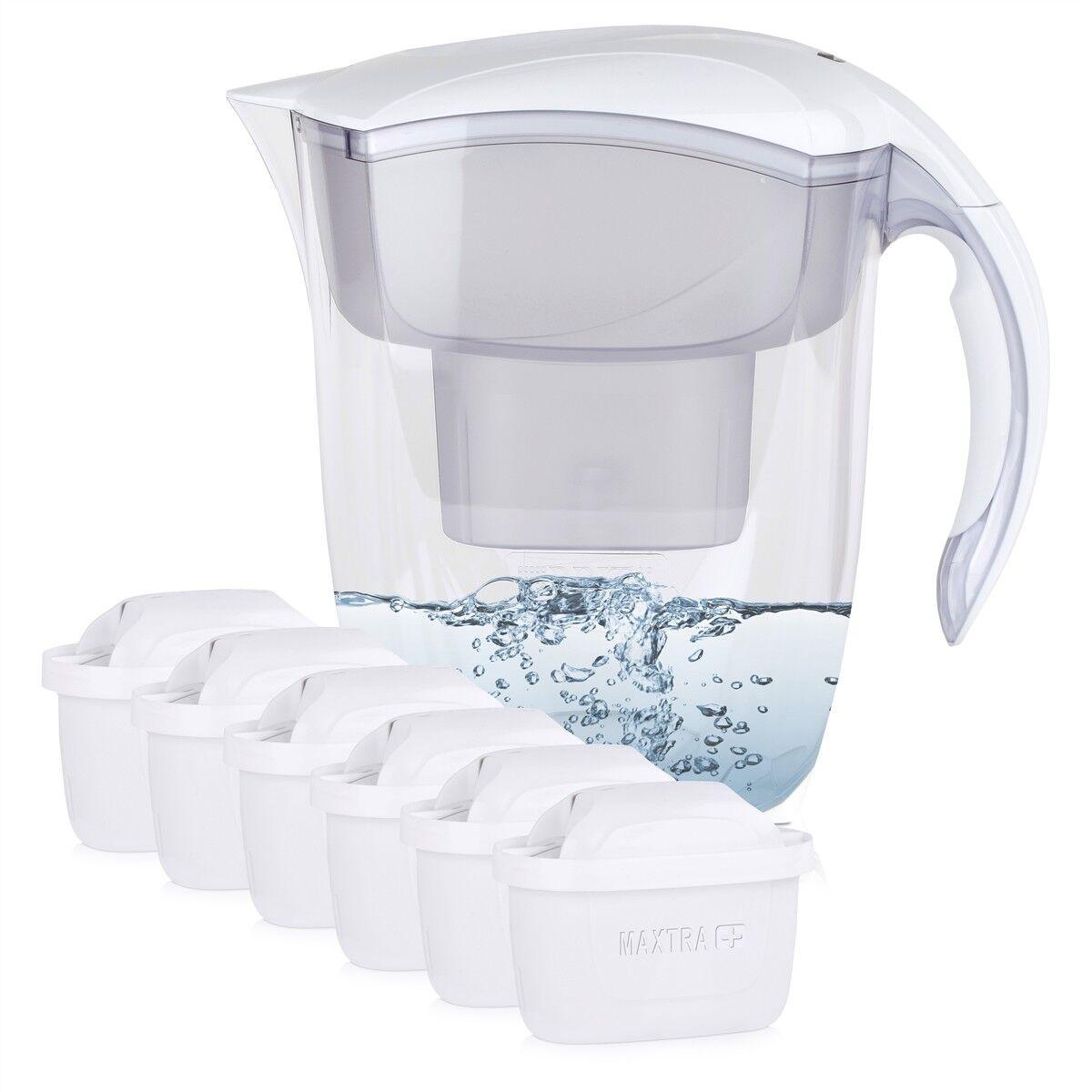 BRITA Elemaris XL 3,5L Wasserfilter weiß inkl. 6x Maxtra+ Kartuschen