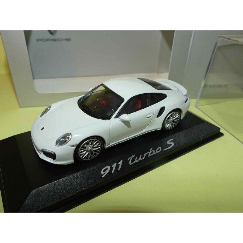 PORSCHE 911 991 TURBO S Blanc MINICHAMPS 1 43