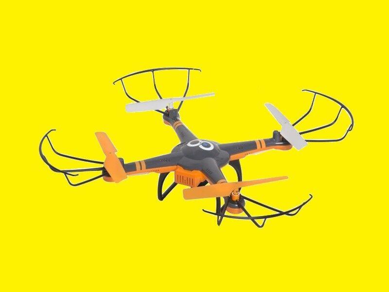 Quadricottero / Drone con Videocamera HD / Live Trasmissione / fino 100m
