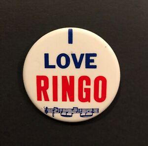 """""""I Love Ringo' Pin Button - 2 inches - Beatles Memorabilia"""