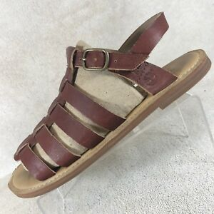 a3027c7d318 Image is loading Timberland-Earthkeepers-Brown-Leather-Strappy-Gladiator- Sandals-Women-