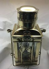 Vintage Brass & Glass Ship /Marine  Oil Lamp Lanterns