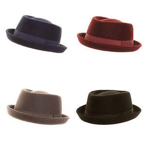 Unisex-Quality-Wool-felt-Porkpie-Hat-FAST-POST