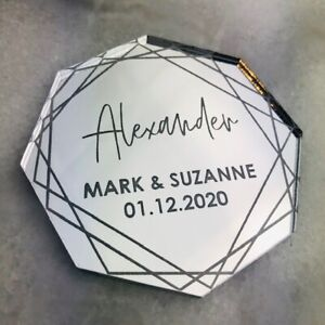 Mirror-Acrylic-Table-Name-Octagon-Place-Setting-Wedding-Place-Name