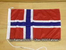 Fahnen Flagge Norwegen Bootsfahne Tischwimpel Biker - 30 x 45 cm