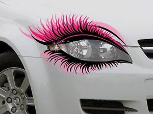 STICKER Pair Novelty Car Eye Lashes Eyelashes Headlight ...