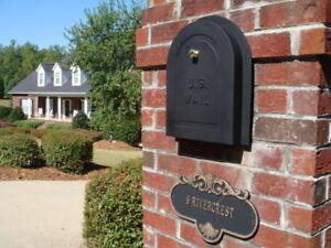 Image is loading 11-034-JUMBO-Brick-Mailbox-Door-Cast-Replacement- & 11\