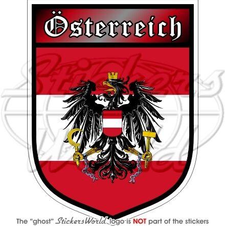 """AUSTRIA Shield Bundesadler Osterreich Austrian 100mm 4/"""" Bumper Sticker Decal"""