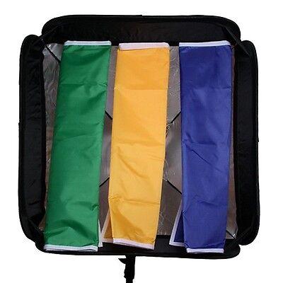 "Softbox + 4 Kit Diffuser For SpeedLight Flash Speedlite Soft box 60x60cm 24""x24"""