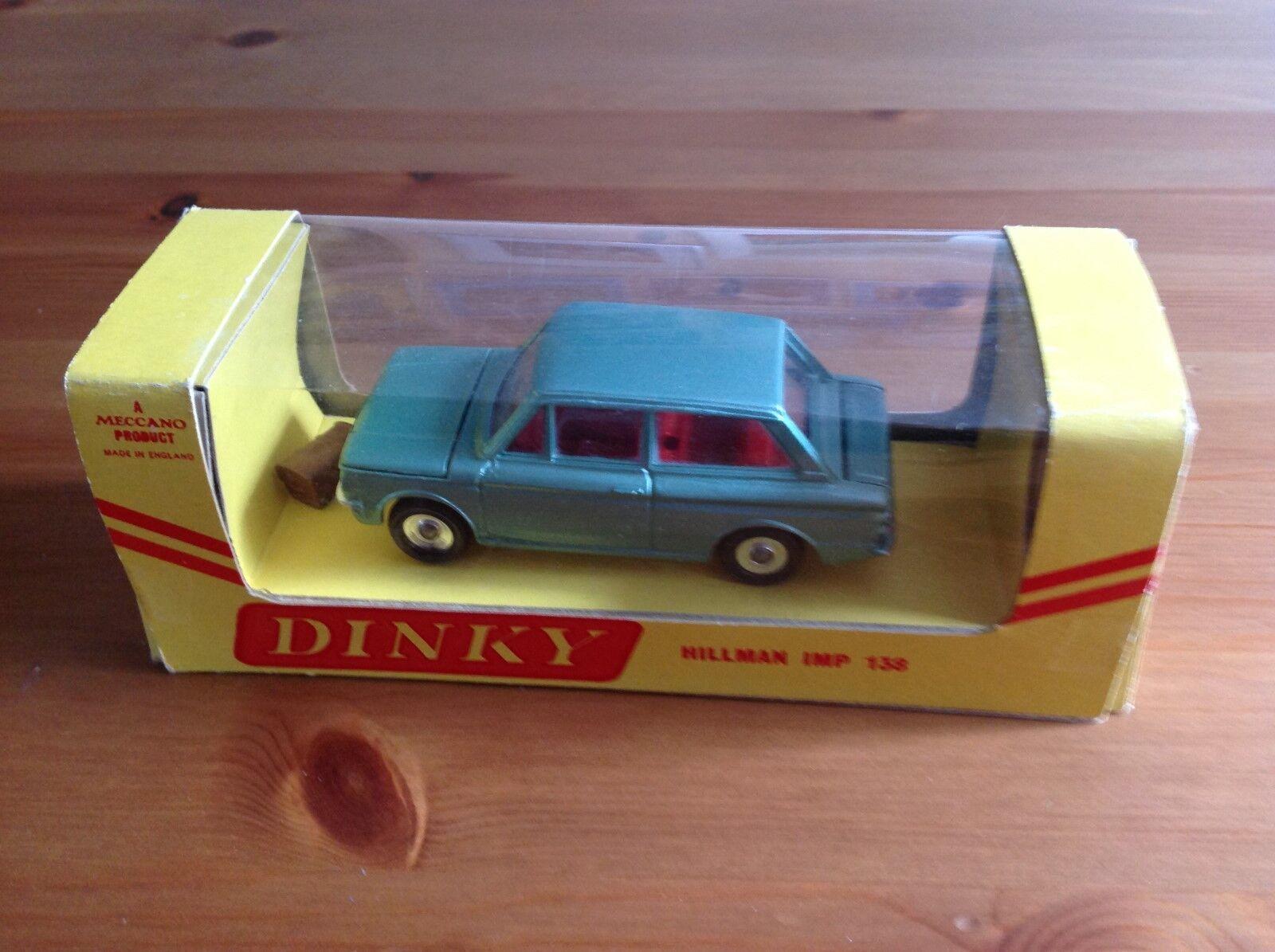 DINKY TOYS 138 HILLMAN IMP SALOON METALLIC GREEN BOXED ALL ORIGINAL