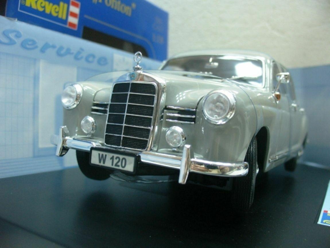 Wow extremadonnate raro Mercedes W120 180D Ponton 1954 grigio 1 18 Revell - 220 450 W123