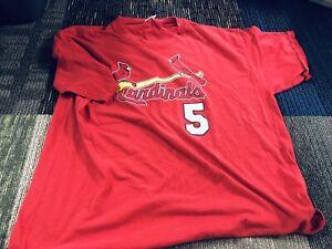 Majestic-Albert-Pujols-St-Louis-Cardinals-5-Jersey-T-Shirt-Men-039-s-Size-XL