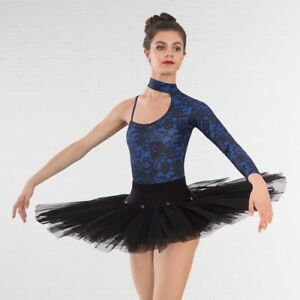 Details about 1st Position Ballet Dance Practice Tutu Skirt White Black