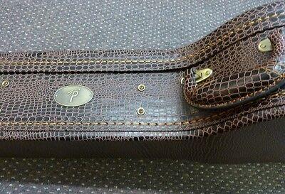New 'TP' Lizard skin OM acoustic guitar case, de luxe quality hardshell, £79.00