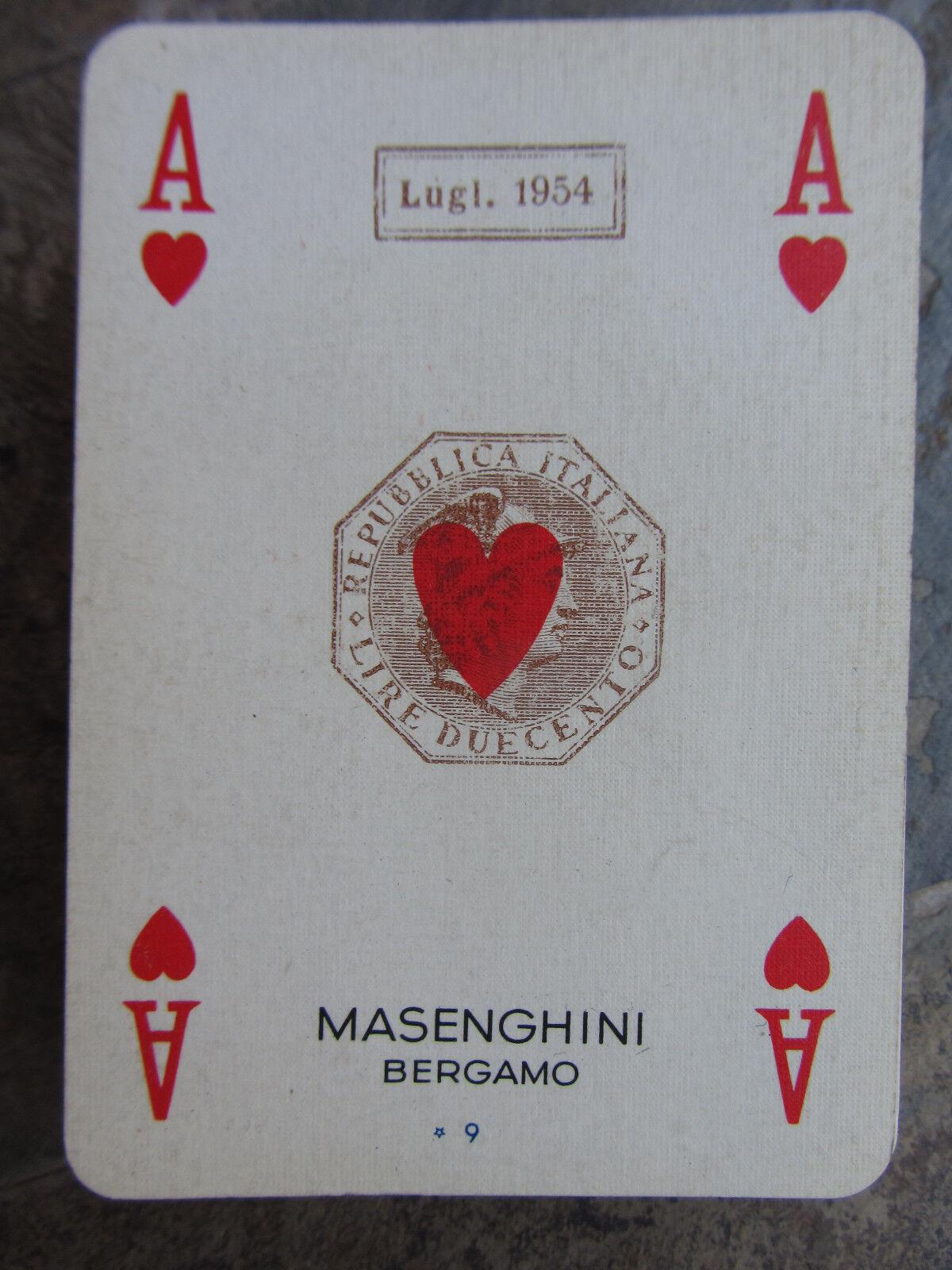 GINO BOCCASILE CARTE DA GIOCO PUBBLICITARIE MUGOLIO MUGOLIO MUGOLIO MASENGHINI BOLLO 1954 ac5b90
