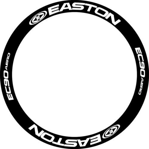 EASTON EC90 AERO WHEEL RIM DECALS STICKERS REPLACEMENT ALL BLACK//WHITE FOR 2RIMS