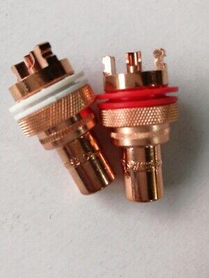 4pcs  Pure Copper RCA Female Socket HIFI RCA Socket for Amplifier Speaker