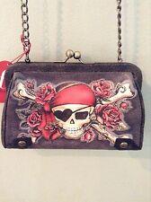 Isabella Fiore buried treasure Pirate skull tattoo chain link small bag