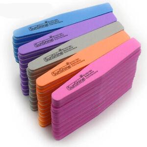 Double-Side-10pcs-Nail-files-buffer-100-180-Trimmer-Washable-Sanding-File-Sponge