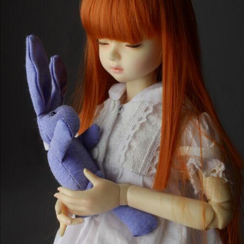 Blue 1//6 1//4 OOAK BJD accessory Skinny Tall Rabbit Cushion Dollmore