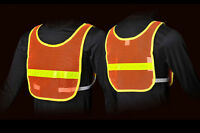 Jogalite Reflective Vest Run Walk Bike Reflexite Orange