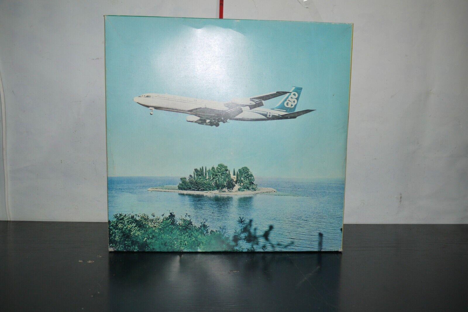70'S VINTAGE GREEK WIND UP BOEING 707-320 OLYMPIC PLANE BASILIADES 3520 MIB