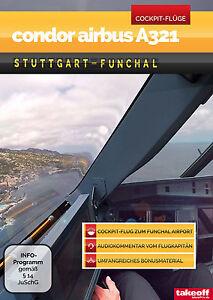 Condor-Airbus-A321-Stuttgart-Funchal-Cockpit-Flug-DVD-NEU-Take-off-TV