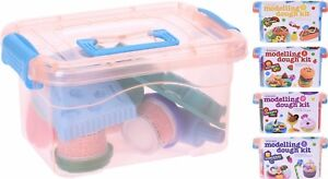 Kids-Childrens-Play-Dough-Shapes-Set-Modelling-Kit-Hard-Carry-Case-Handle-Caddy