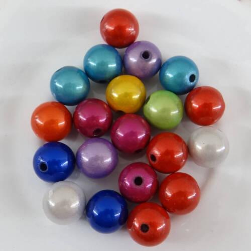 20 perles magiques 12 mm  unis couleur mélangée-mag008