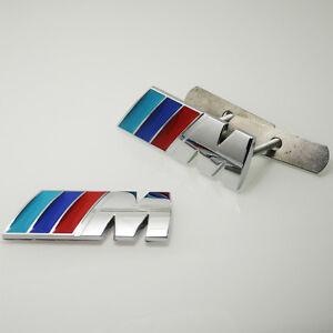 2ps-Set-M-SPORT-ALEACIoN-Grill-amp-Bota-Insignia-Emblema-Cromado-De-Alta-Calidad-Trasero-para-BMW