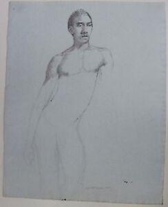 black drawing Nude man