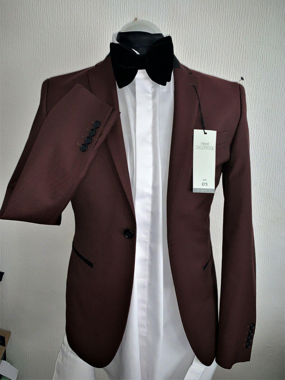 Próxima sastrería Vestido CENA FIESTA TRAJE Borgoña  Elastizado 36R TRS 32X33 BNWT  promociones emocionantes