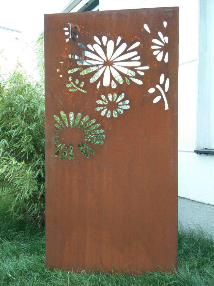 Edelrost Garten Sichtschutz Rost Garten Sichtschutzwand Metall H18075cm